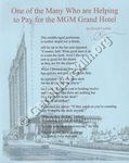 One of the Many Who are Helping to Pay for the MGM Grand Hotel
